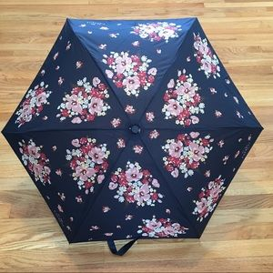 COACH Mini Umbrella in Navy Daisy Bouquet  Print
